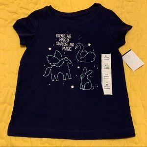 Cat & Jack Toddler Girls Size 4T New Shirt